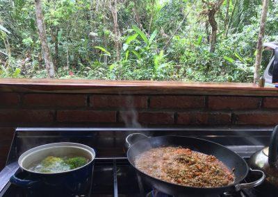 Refugio del colibrí comida sana