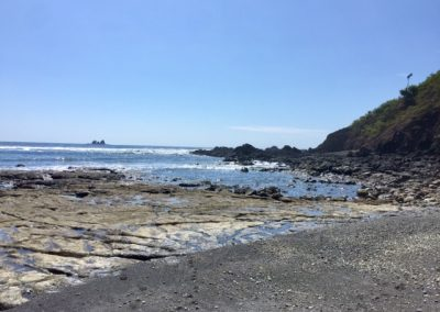 Beach Ayampe north walking